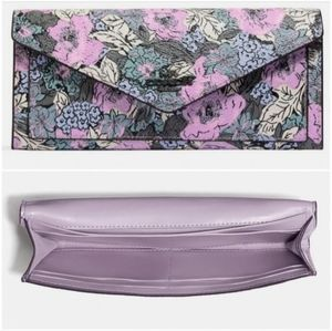 Coach Soft Wallet with Heritage Floral Print